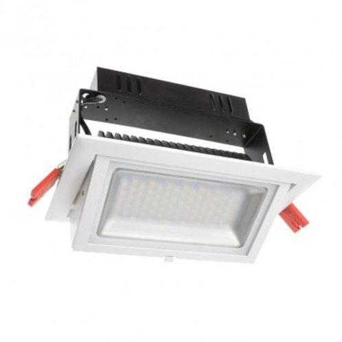 Projecteur encastrable LED Samsung SMD rectangulaire cadre blanc, 38W