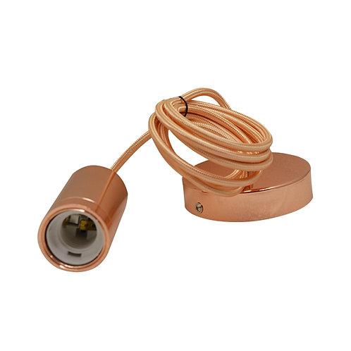 Lampe suspendue cylindre douille métal avec câble de 2m
