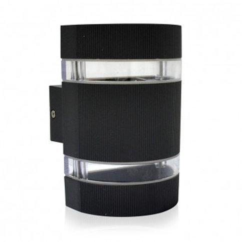 Applique LED cylindrique extérieure cadre gris anthracite, 6W