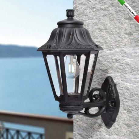 Applique LED extérieure, cadre noir, IP55