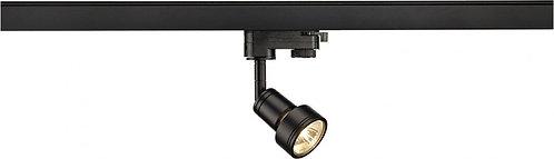 Spot LED SLV, cadre noir, pour rail triphasé, 50W