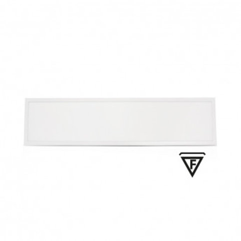 Dalle LED rectangulaire cadre blanc, 36W, IP44, recouvrable