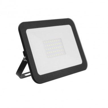 Projecteur LED SMD crystal extérieur cadre noir, extra-plat, 30W