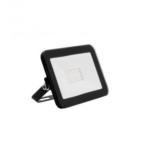 Projecteur LED SMD crystal extérieur cadre noir, extra-plat, 10W