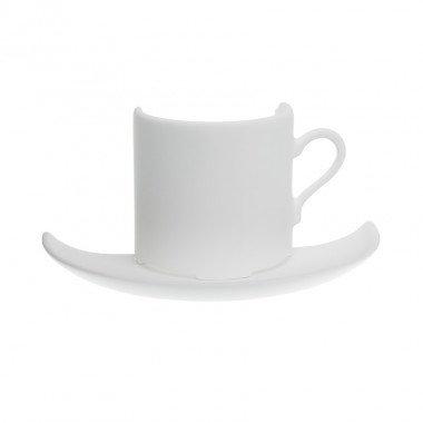 Applique murale LED tasse à café blanche