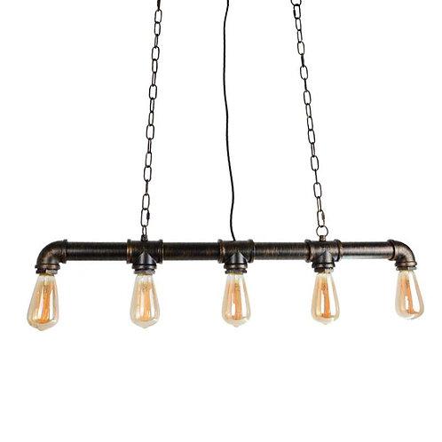 Lampe suspendue tuyauterie en fer