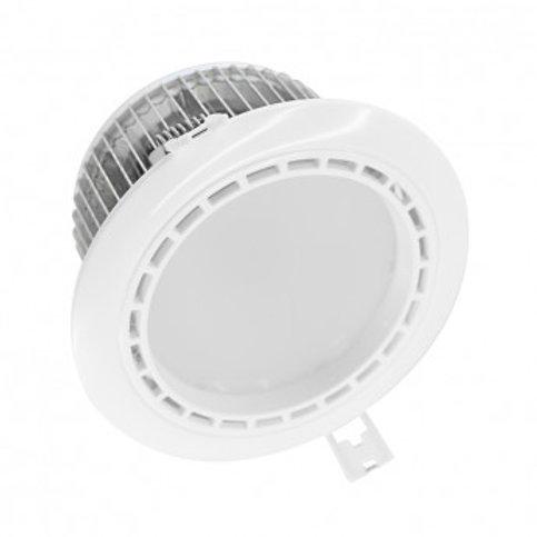 Spot LED rond cadre blanc, fixe 4 zones, 13W, RGB