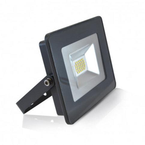 Projecteur LED extérieur cadre gris, extra-plat, 20W