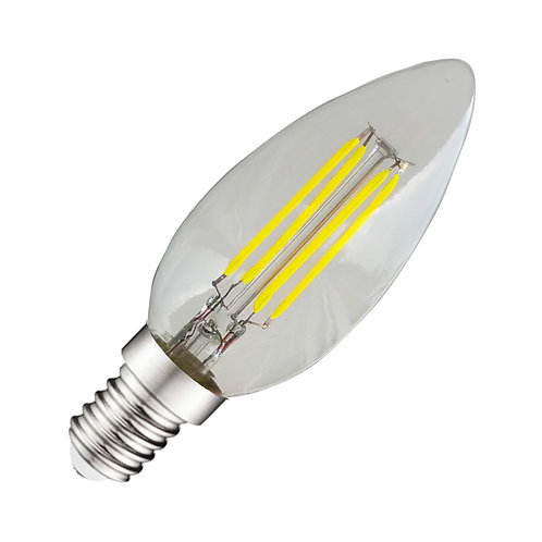 Ampoule LED E14, flamme filament, 4W