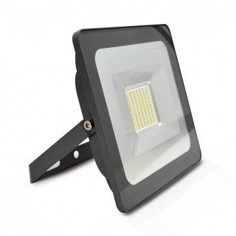 Projecteur LED SMD crystal extérieur cadre gris, extra-plat, 50W