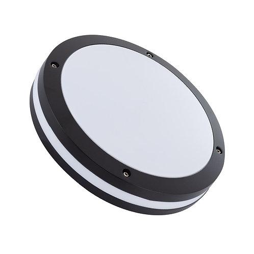 Plafonnier LED rond cadre noir, puissance maximale 40W