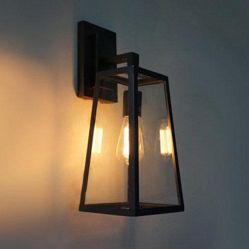 Applique murale lampadaire noire