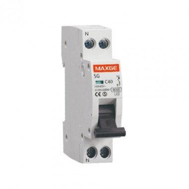 Disjoncteur automatique industriel MAXGE, 1P+N, 6kA, 1 module DPN, 20A