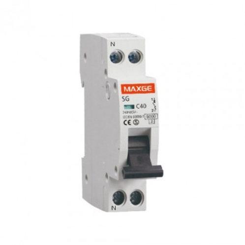Disjoncteur automatique industriel 1P+N, 6kA, 1 module DPN