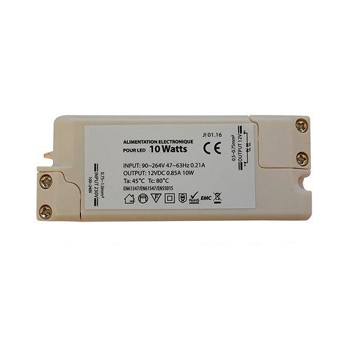 Alimentation électronique IP50 pour LED 10W, 12V DC