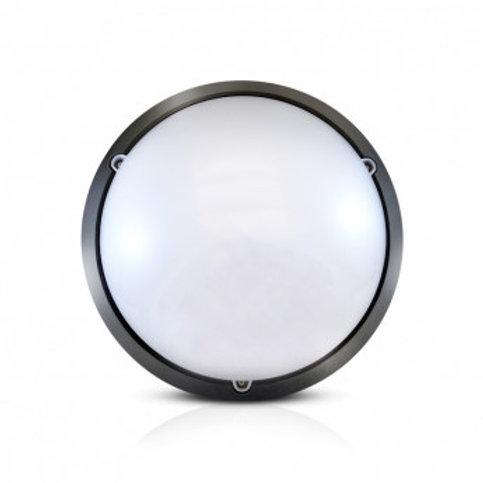 Plafonnier LED rond cadre noir, 18W