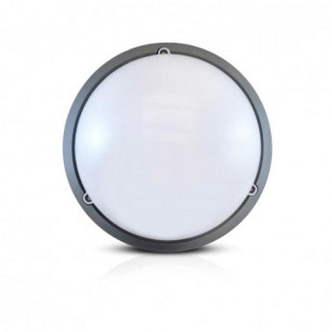 Plafonnier LED rond cadre gris anthracite, 18W