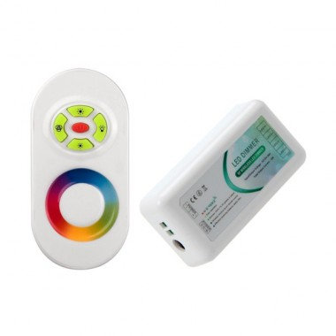 Contrôleur pour ruban LED RGB, 12/24V, 216W, avec télécommande RF