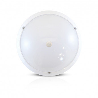 Plafonnier LED rond cadre blanc, 18W, avec détecteur IR