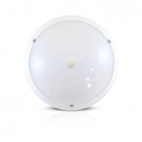 Plafonnier LED rond cadre blanc, 18W, avec détecteur RF