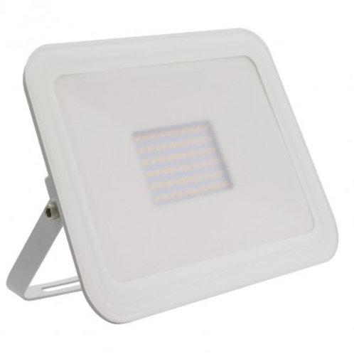 Projecteur LED SMD extérieur cadre blanc, extra-plat, 100W