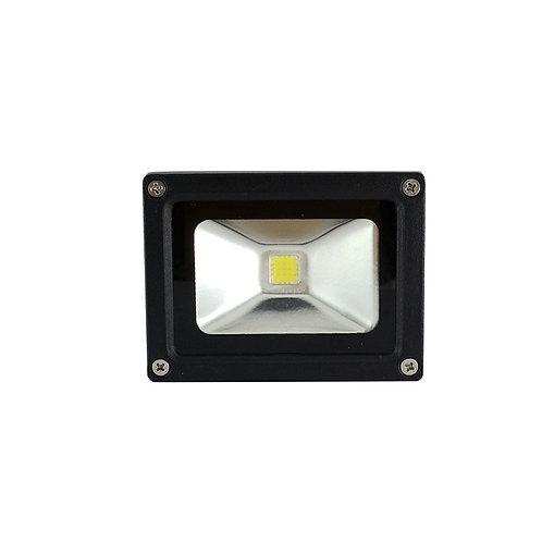 Projecteur LED extérieur cadre noir, portatif et orientable, 10W