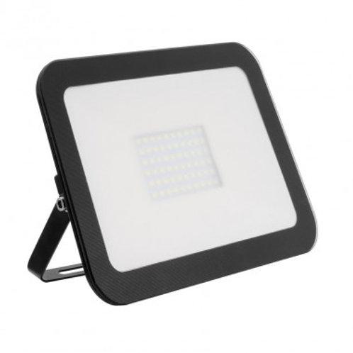 Projecteur LED SMD crystal extérieur cadre noir, extra-plat, 50W