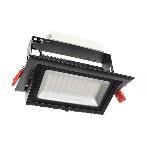 Projecteur encastrable LED Samsung, cadre noir, 38W
