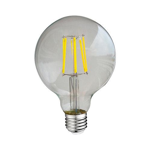 Ampoule LED E27 G95, globe filament, 8W