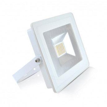 Projecteur LED extérieur, cadre blanc, 30W, IP65
