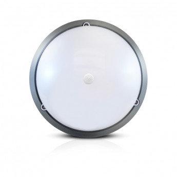 Plafonnier LED rond, cadre gris anthracite, 18W, avec détecteur IR