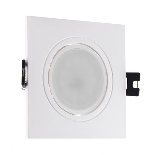 Spot LED, cadre blanc, orientable, 6W