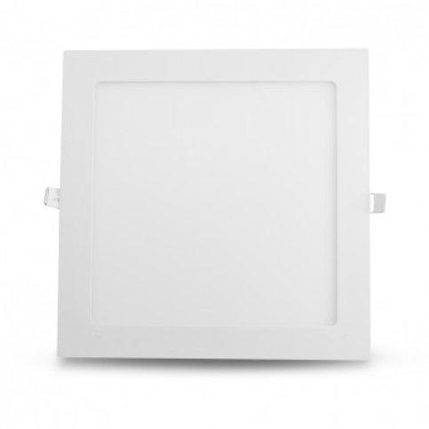 Dalle LED carrée cadre blanc, 18W