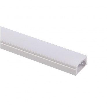 Profilé en aluminium transparent, pour ruban LED, 1m x 17x8mm
