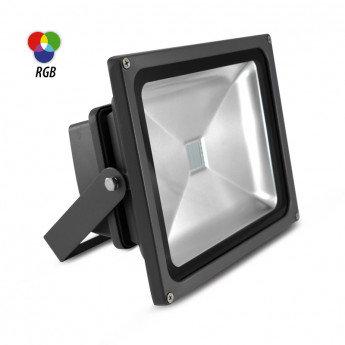 Projecteur LED extérieur, cadre gris anthracite, 30W, IP65, RGB