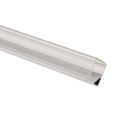 Profilé en aluminium transparent, carré, pour ruban LED, 1m x 16x16mm