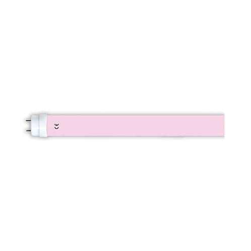 Tube LED T8 rose, long. 600mm, 9W