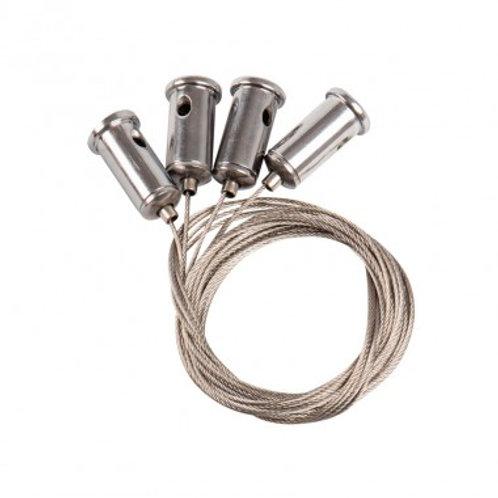 Kit de suspension en acier inoxydable pour dalle LED, 1m