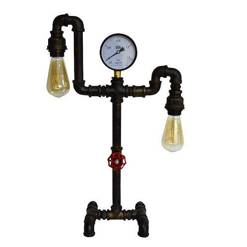 Lampe de bureau tuyauterie en acier galvanisé