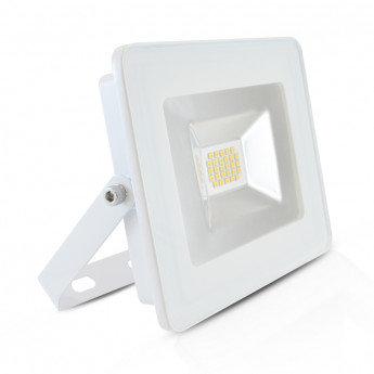Projecteur LED extérieur cadre blanc, extra-plat, 20W