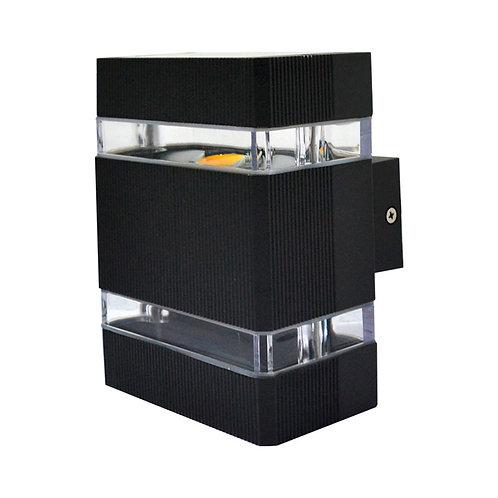 Applique LED COB rectangulaire extérieure cadre gris anthracite, 6W
