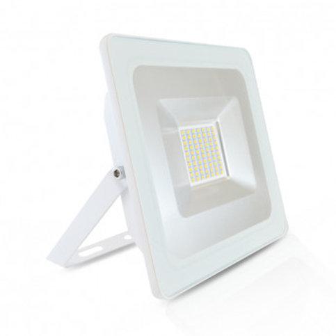 Projecteur LED extérieur cadre blanc, extra-plat, 50W