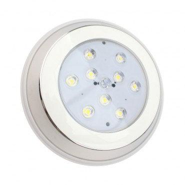 Spot LED, spécial piscine, en acier inoxydable, 24W, IP68, RGBW