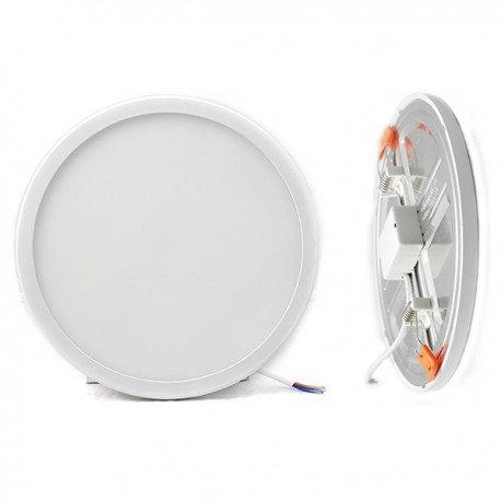 Downlight LED, cadre blanc, 20W, découpe réglable