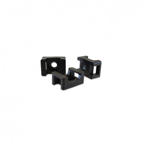 Embase à visser en nylon noir, dim. 22x15mm (x100)