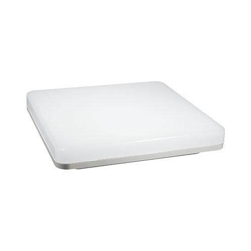 Plafonnier LED carré cadre blanc, 18W
