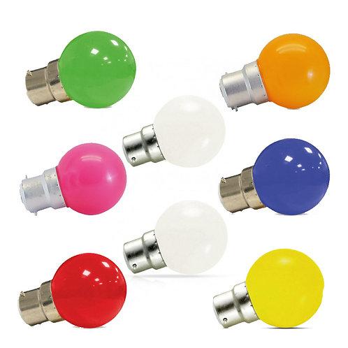 Ampoule LED B22, bulbe, 1W