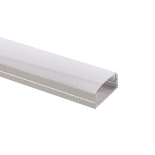 Profilé en aluminium translucide pour ruban LED B39, 1m x 23,5x10mm