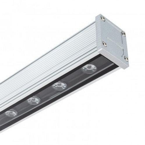 Barre linéaire Wallwasher LED cadre gris, 18W