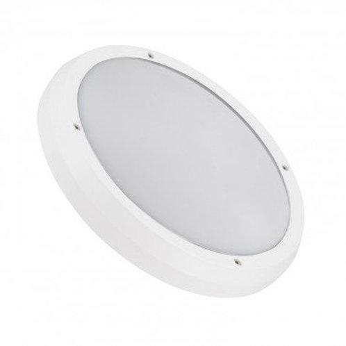 Plafonnier LED rond cadre blanc, puissance maximale 2x60W